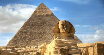 Esfinge y Piramides