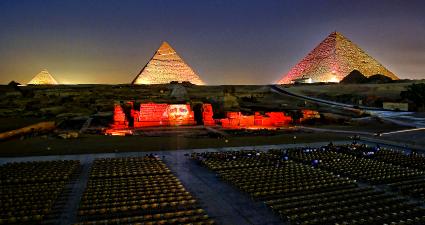 Espectáculo Luz y Sonido Piramides