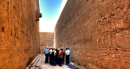 Interior Templo de Edfu