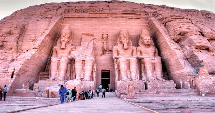 Entrada a los Templos de Abu Simbel