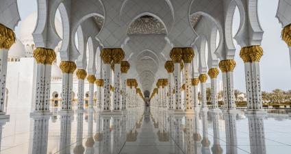 Columnas Mezquita Sheikh Zayed