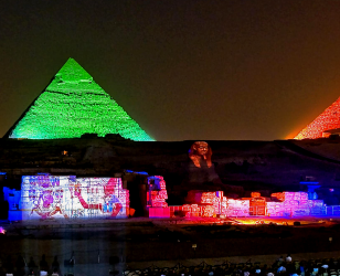 sound and light show in pyramids